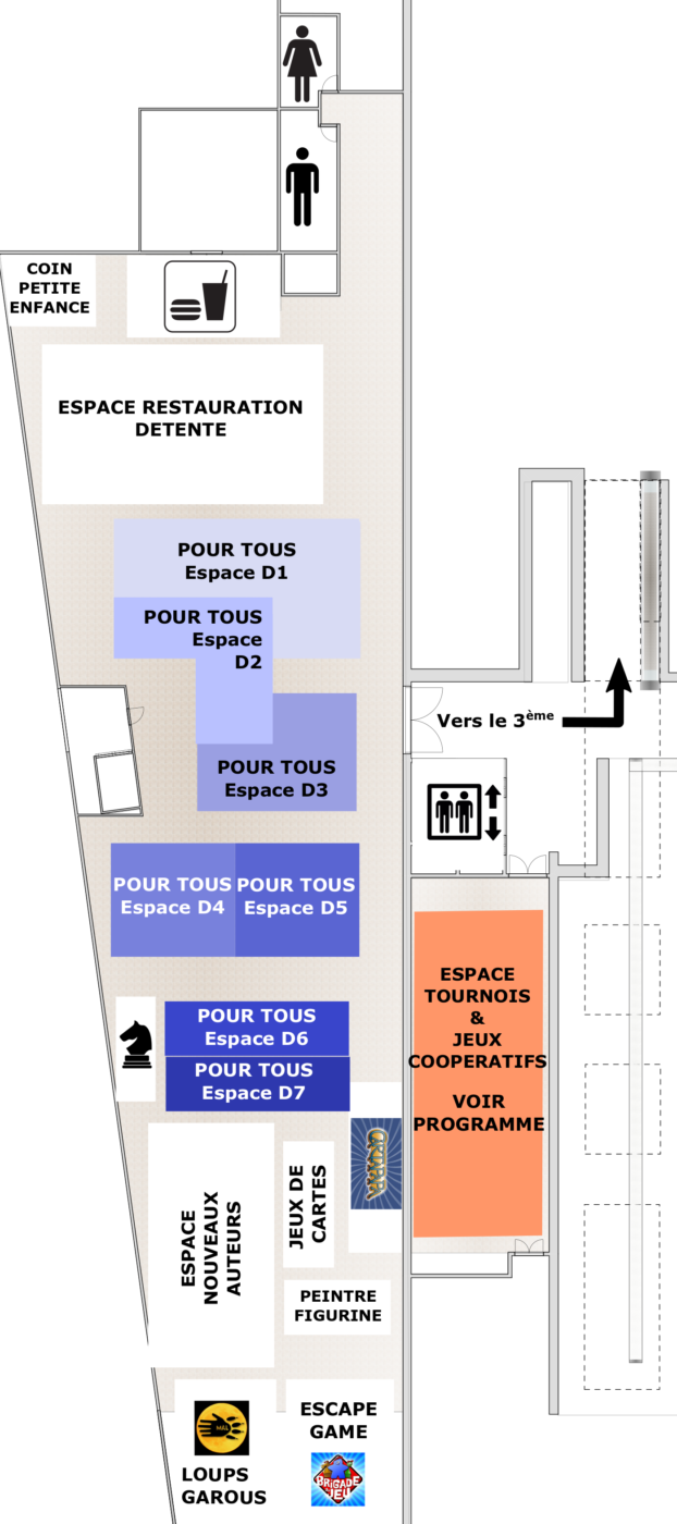 Plan du Corum interactif – Étage inférieur